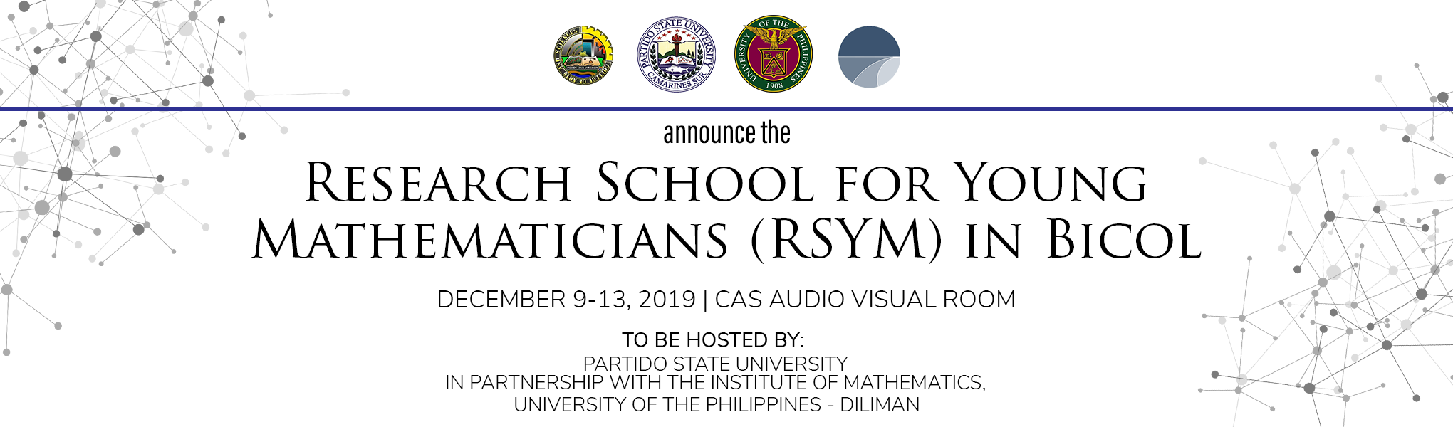 Research School for Young Mathematicians (RYM) in Bicol