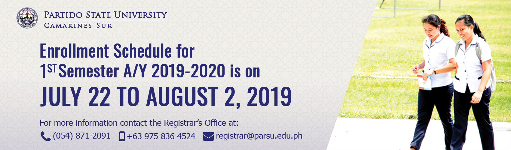 Enrollment Schedule 2019-2020